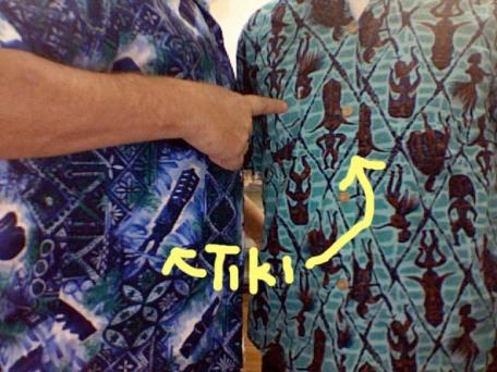 Tiki Hawaiian shirt