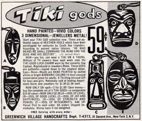 tiki advertisement 1960s